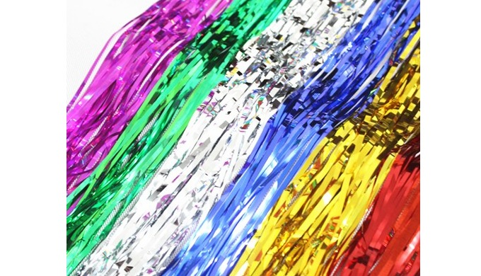 Material PET Width 1m Length 1m, 2m, 3m, 4m, 5m, 6m (the length can be customized) Color gold, silve...