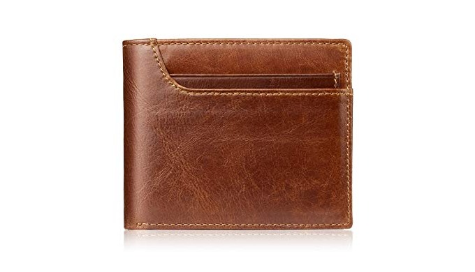 The range of men's leather wallets manufactured by Param Leathers is crafted by highly experienced c...
