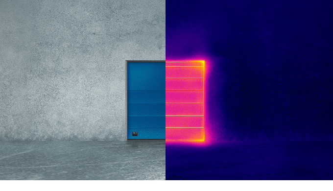 Energieeffizient und optimal isoliert: Das Sektionaltor ASSA ABLOY OH1082P Das isolierte Sektionalto...