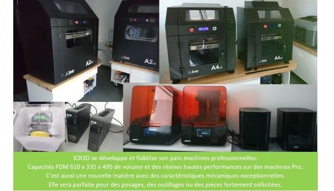 ICR3D se d éveloppe et évolue en permanence pour perfectionner son savoir faire, proposer et trouver...