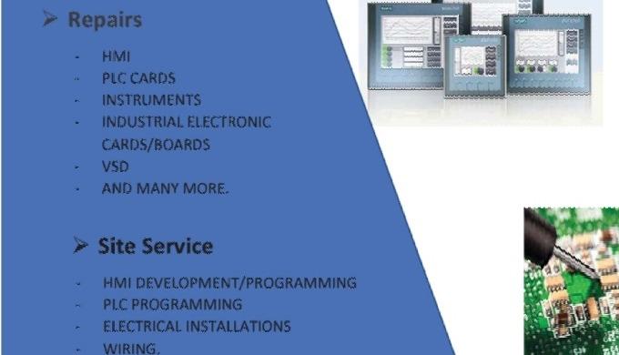 - HMI -PLC - ELECTRONIC BOARDS - VSD