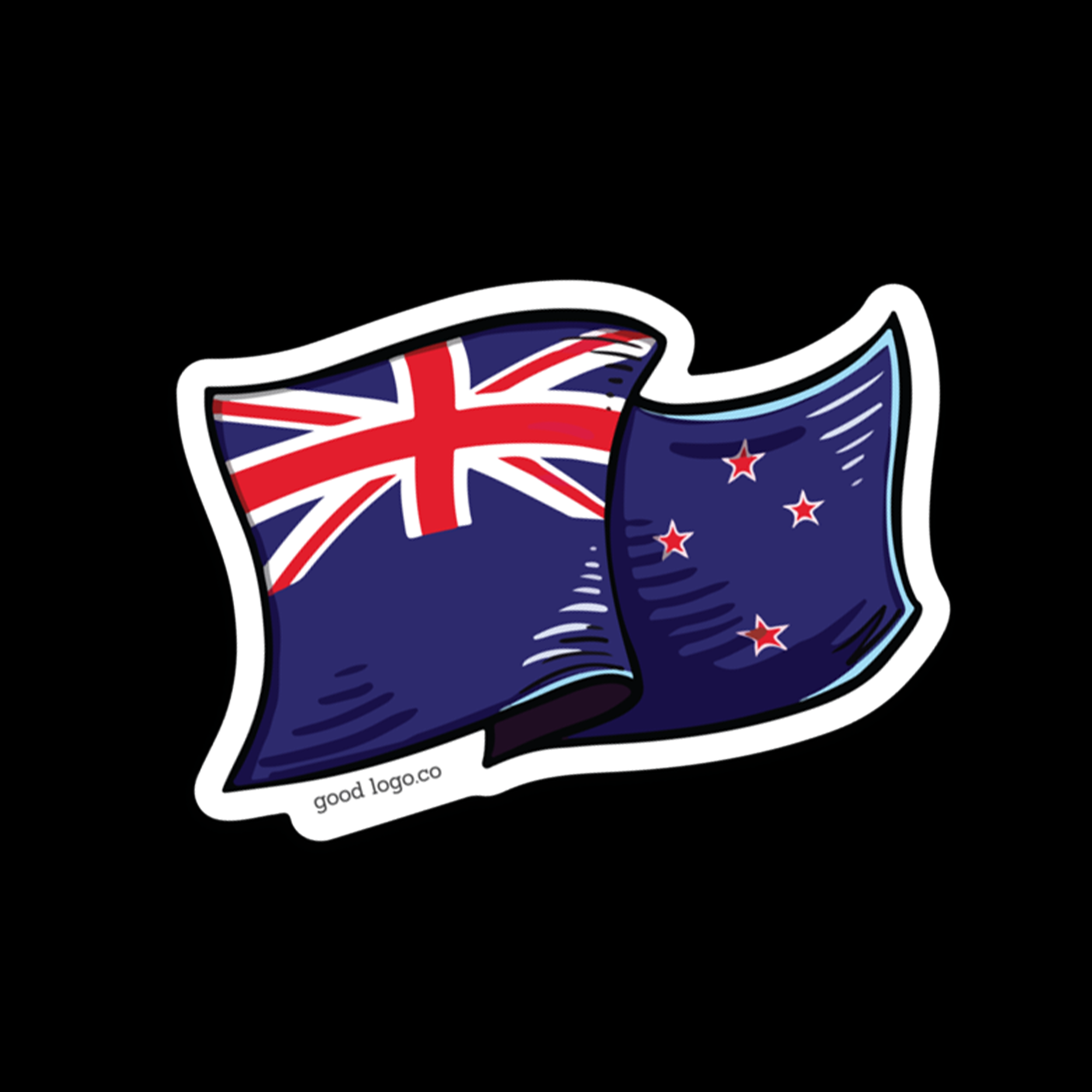 The National Flag of New Zealand. They tried to replace it with the silver fern, the laser kiwi and ...