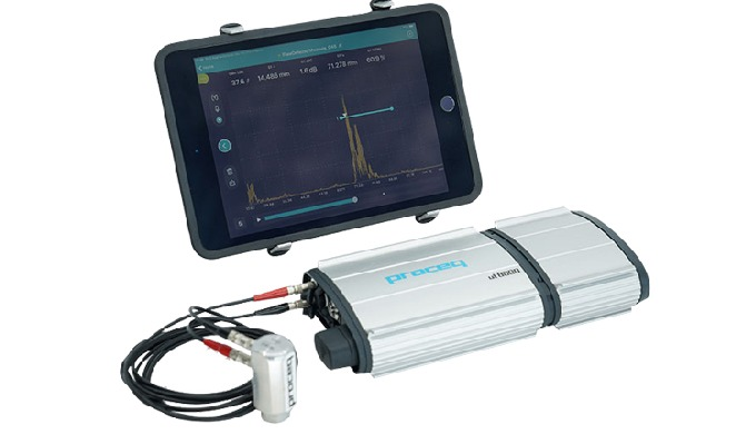 Ultrasonic testing for flaw detection of metal and composite parts, finally portable and truly user-...