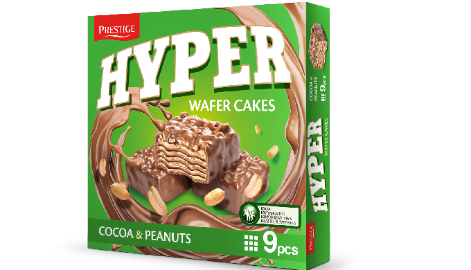 2. Description Wafer, comprised of wafer sheets, butter cream and covered with cocoa coating and pea...