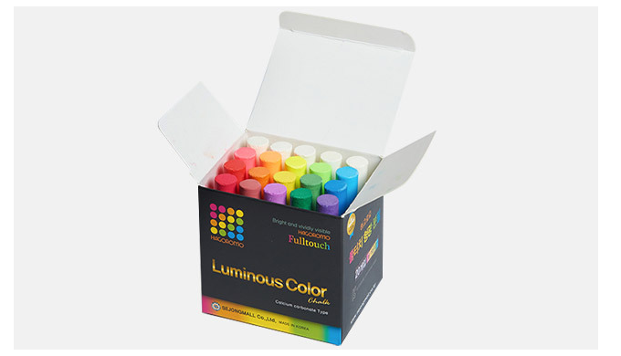 HAGOROMO Fulltouch Color Chalk [20 pcs/16 colors]/1 BOX / SEJONGMALL