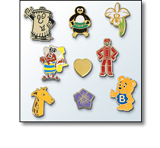 Lapel pin badges for charity