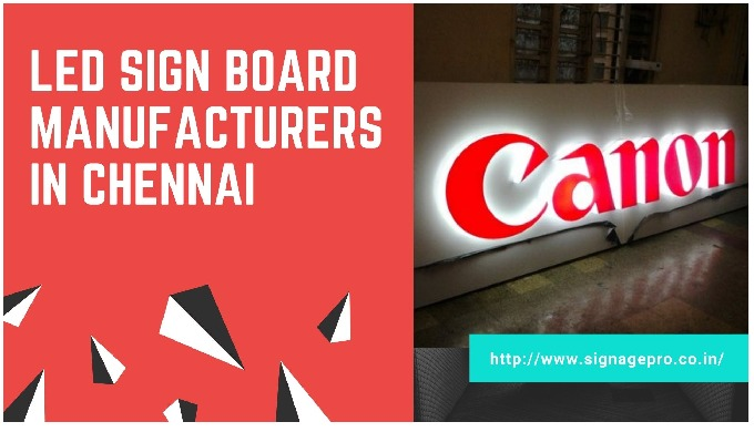 ACP Sign Board Manufacturers in Chennai ACP Signboards are broadly utilized by companies, shops or d...