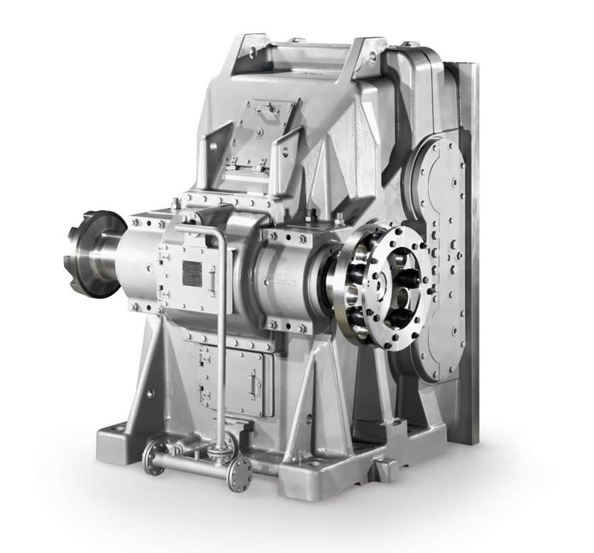 koaxial Getriebe / für Rohrmühlen / für die Zimentindustrie / 2-stufig
