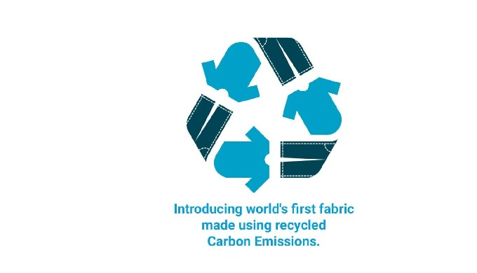 Introducing world's first yarn and fabric using recycled carbon emissions.