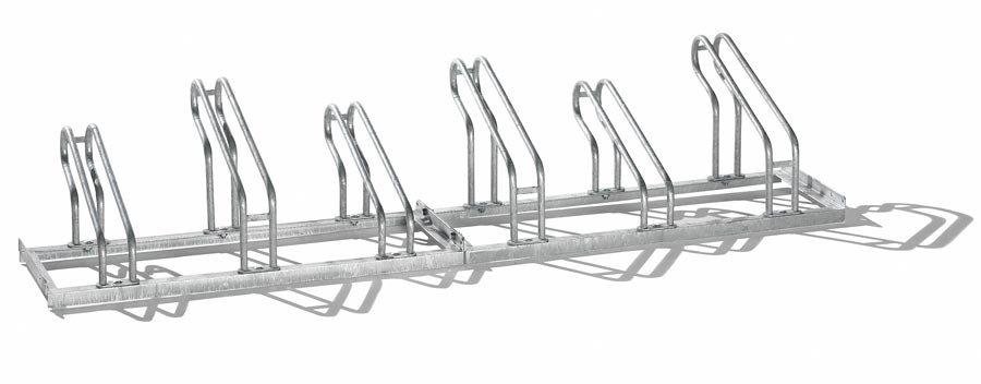 Bügel aus 18 mm StahlrohrRadeinstellung einseitig, feuerverzinkt Platz sparende Hoch-/Tief-Radeinste...