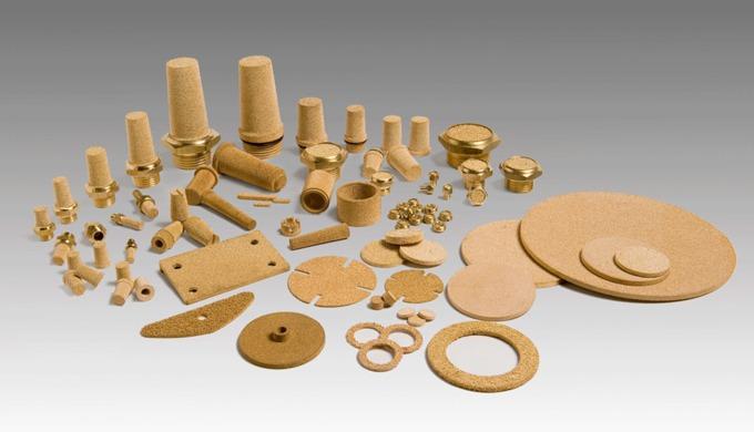 Poröse Sinterfilter und Pneumatik Schalldämpfer aus Bronze Filterelemente aus Bronze werden aus kuge...