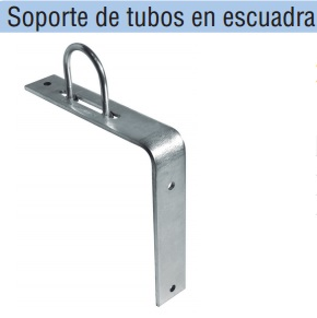 SOPORTES DE TUBOS EN ESCUADRA