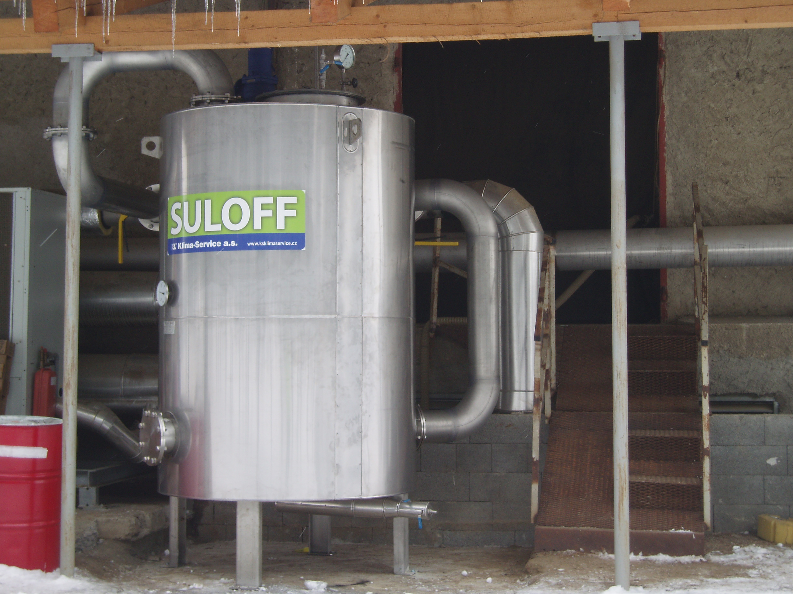 Odsiřovací jednotka SULOFF Řada odsiřovacích jednotek slouží k odstraňování sulfanu adsorpcí speciál...
