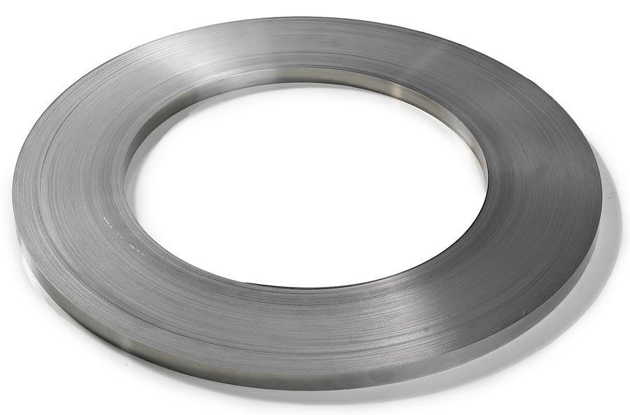 Bandbreite 16 mmStahlband, blank, 16 mm breit, 0,5 mm stark, 240 m auf Spezialspule.Stahlband – Höch...