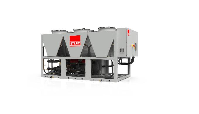 Chiller raffreddati ad aria con capacità di raffreddamento da 160 a 565 kW