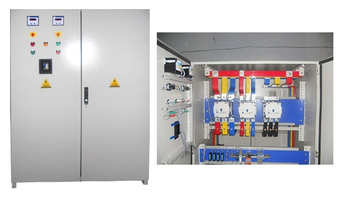 Automatic transfer switch, may be a sort of transfer panel used with a diesel generator to mechanica...