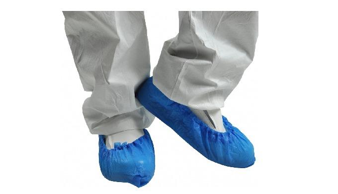 Image01: Couvre chaussure Couvre chaussures ambipèdes, solides et jetables (À usage unique) en polyé...