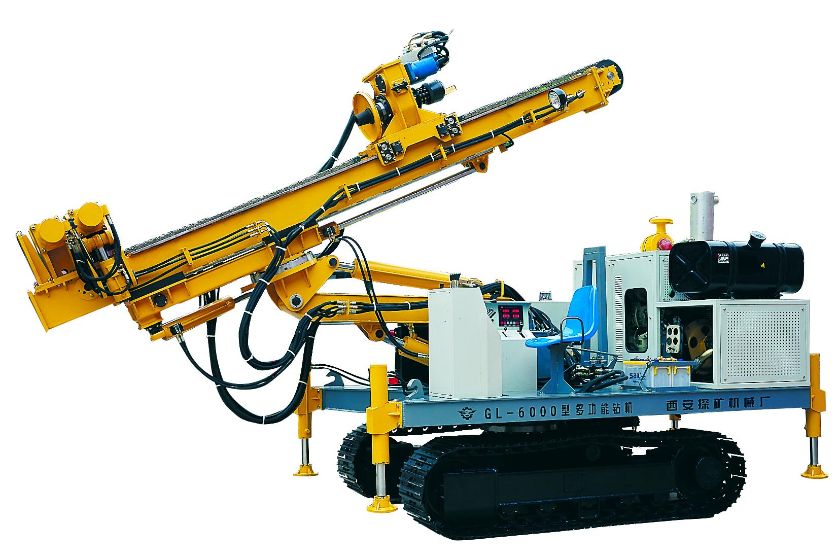 Application GL-6000 type full-hydraulic crawler multifunctional engineering drilling machine for tun...