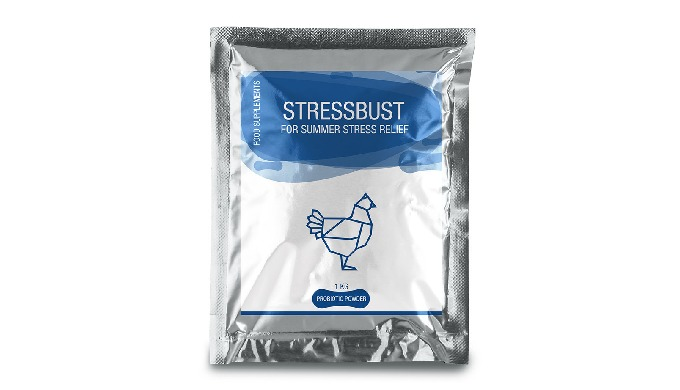 STRESSBUST STRESSBUST is for Summer Stress it's advised during the 1st Week of chick's life, prior t...