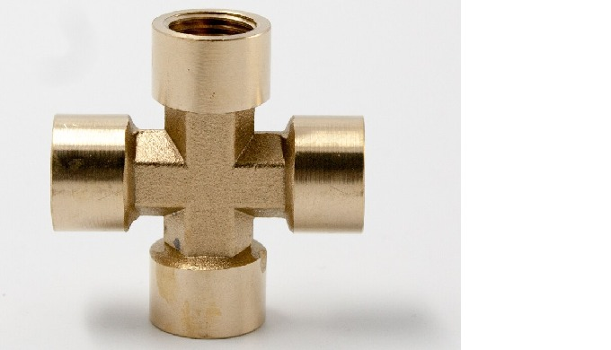 Brass Female Cross