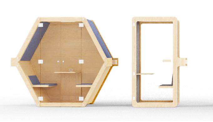 Beezz a développé un concept d'aménagement flexible des bureaux en proposant une gamme de mobilier a...