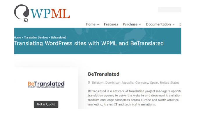 WordPress webbplatsöversättning med WPML