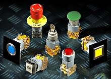 Průmyslové ovládací prvky, tlačítka a kontrolky