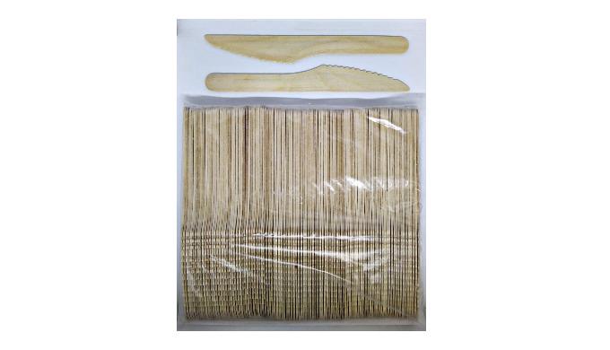 Birch veneer wooden knives, 165 mm, 100 pcs/set
