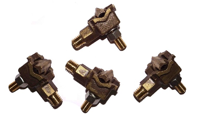 Bronze tank ground clamps