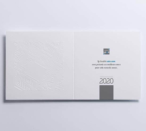 Carte de vœux ESTAMPE de CREIDEO