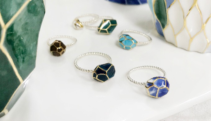 Cerasilver ceramic ring│jewelry│silver│handmade