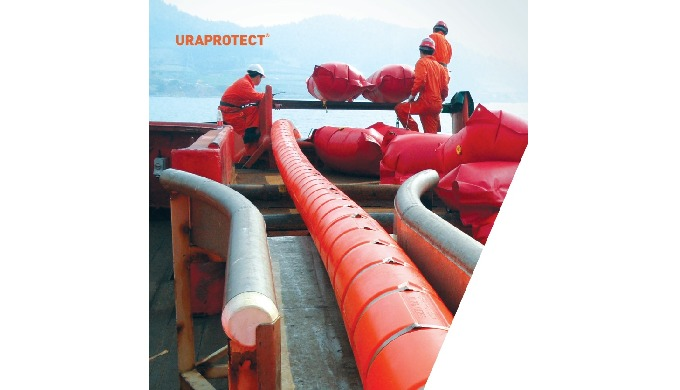 Uraprotect protects pipes and cables from abrasions and impacts in subsea environment. (ex: Bedrock,...