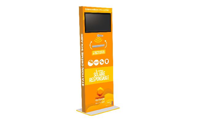 Nos borne de prévention et de distribution de crème solaire s'implantent sur les stations de ski, st...