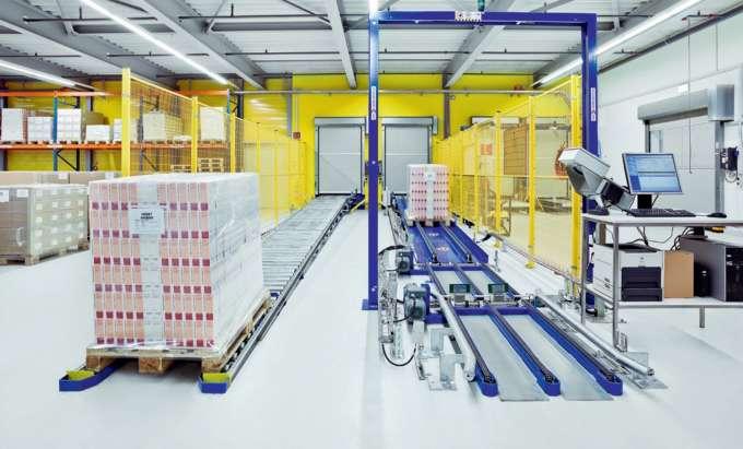 Das Palettenfördersystem bietet Logistiklösungen für einfache und komplexe Materialflüsse. Ob horizo...