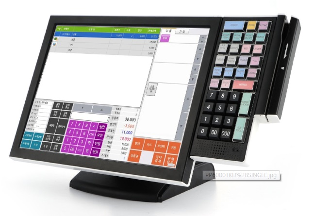Touch monitor with 40 keypad