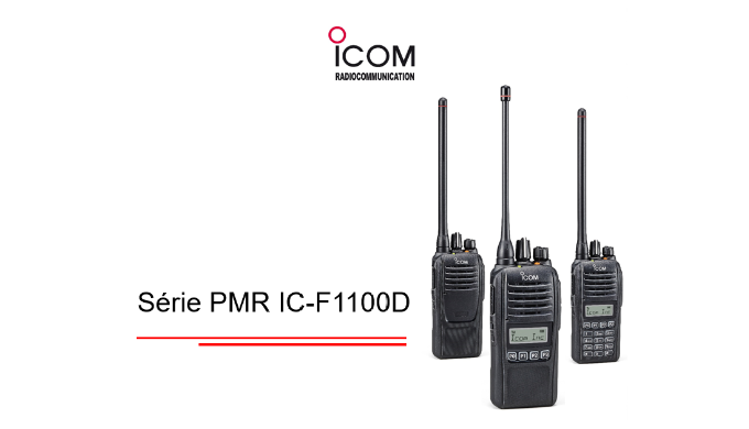 Nouvelle série de portatifs numérique IC-F1100D