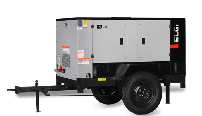 ELECTRIC POWERED AIR COMPRESSOR 131-490 CFM
