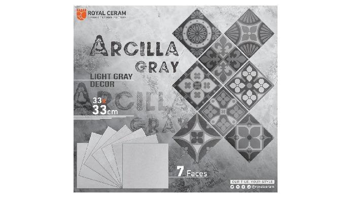 Size: 33x33cm Color: Light Gray Type: Floor tiles