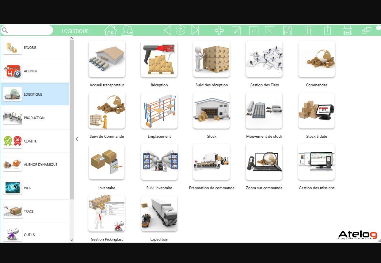 Atelog solution WMS: Alienor Logistique