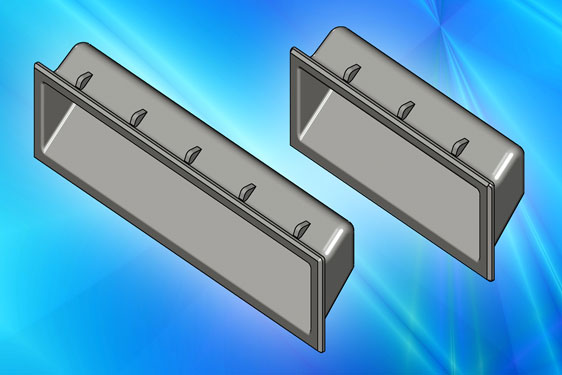 Clip-in pull handles