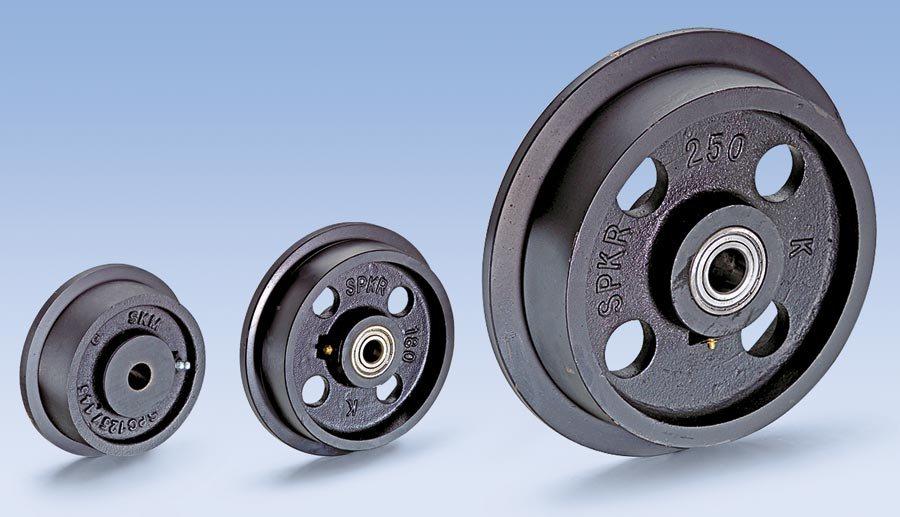 Radkörper aus hochwertigem Grauguss GG 20/25, schwarz lackiert. Spurkranz und Lauffläche sauber über...