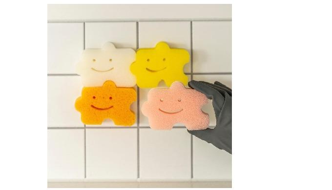 Saengong Self-adhesive scrubber Set(3pcs) kitchen supplies kitchenware