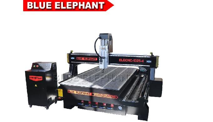 Синий слон 1325 4 оси маршрутизатор ЧПУ 3D резьба по дереву машина с воздушным охлаждением шпинделя