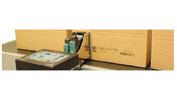 Intégré par CDA, le marqueur industriel d'impression par jet d'encre sur carton permet de marquer de...