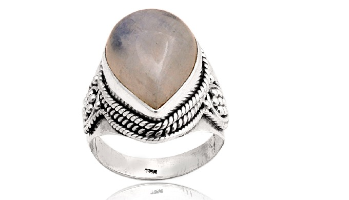 Material : - 925 Sterlinh Silver Gemstone : - Natural Ranbow Moonstone ( All types of Gemstones Avaa...