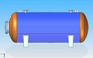 Tlakové nádoby - Ležaté vzdušníky Ležaté vzdušníky jsou tlakové nádoby na vzduch tvořené válcovým pl...