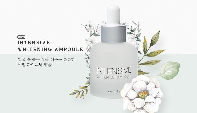 intensive whitening ampule, collagen anti-wrinkle cream, daily UV shield sun cream, triple solution ...