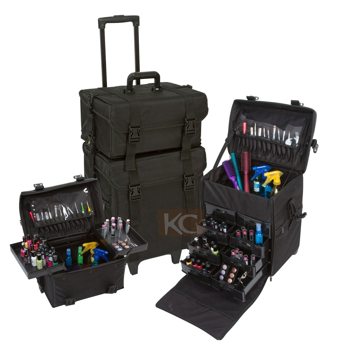 *Heavy duty handle of hairdresser trolley case for added comfortable and mobility*Sturdy, spacious, ...