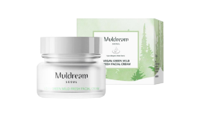 Muldream Vegan Green Mild Fresh Facial Cream
