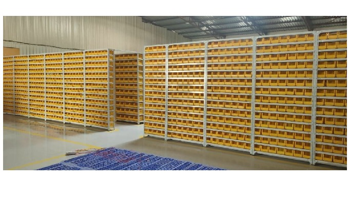 Slotted angle shelving system is widely used as a light duty shelving system for warehouse storage, ...